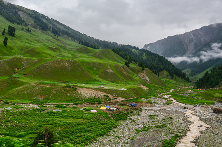 Mountain scenery of Kashmir and Jammu, Northern India.