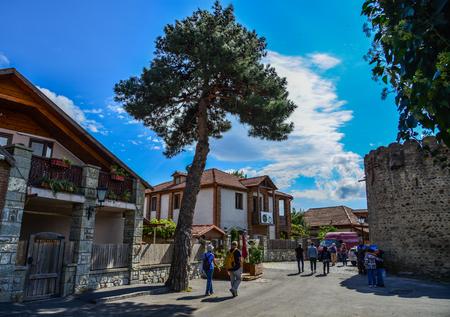 Mtskheta, Georgia - Sep 26, 2018. Old buildings of Mtskheta, Georgia. One of the oldest cities of Georgia, Mtskheta became a UNESCO World Heritage Site in 1994. 報道画像