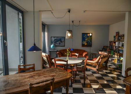 Lucerne, Switzerland - Oct 23, 2018. Interior of vintage house in Lucerne, Switzerland. Lucerne is known as the pocket-sized version of Switzerland.