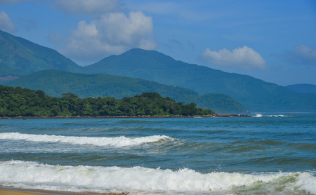 Beautiful sea at sunny day in Da Nang, Vietnam. Stock Photo