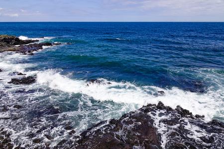 Beautiful sea and cliff in Jeju Island, South Korea.