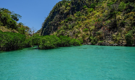 Seascape of Coron Island, Philippines. Coron is one of the most attractive island paradise in Asia.