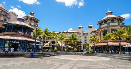 Port Louis, Mauritius - 4. Januar 2017. Stadtbild von Port Louis, Mauritius. Port Louis ist das wirtschaftliche, kulturelle und politische Zentrum des Landes. Editorial