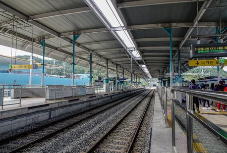 Gapyeong, South Korea - Feb 6, 2015. Gapyeong Train Station in South Korea. The station is nearby attractions include the islands of Namiseom. Editorial