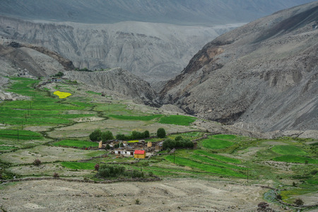 Mountain village in Ladakh, North of India. Ladakh is renowned for its remote mountain beauty and culture.