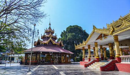 Pyin Oo Lwin, Myanmar - Feb 12, 2017. Buddhist temple in Pyin Oo Lwin, Myanmar. Pyin Oo Lwin is a scenic hill town in Mandalay Division.