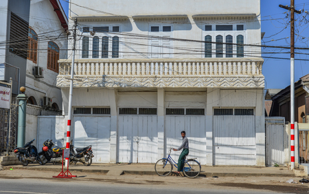 Pyin Oo Lwin, Myanmar - Feb 12, 2017. Old building in Pyin Oo Lwin, Myanmar. Pyin Oo Lwin is small scenic town with many British architecture. 報道画像