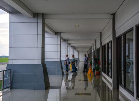 Kuala Lumpur, Malaysia - Apr 13,2016. Interior of Kuala Lumpur International Airport 2 (KLIA2). 報道画像