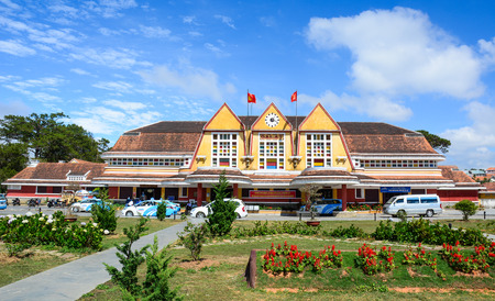 Dalat, Vietnam - Jan 25, 2016. Old railway station in Dalat, Vietnam. The station was designed in 1932 by French architects Moncet and Reveron, and opened in 1938. 報道画像