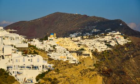 Landscape of beautiful Santorini Island. Santorini is one of the most popular islands for destination weddings and honeymoons. Reklamní fotografie