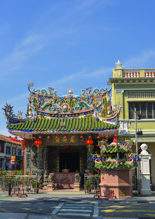 George Town, Malaysia - Apr 21, 2019. Chinese temple in George Town, Malaysia. George Town is one of the most popular tourist destinations in Malaysia.