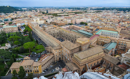 Vatican - Oct 14, 2018. Aerial view of Vatican City. Vatican is an independent city-state enclaved within Rome, established with the Lateran Treaty (1929).