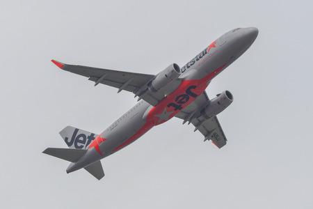 Tokyo, Japan - Apr 17, 2019. JA25JJ Jetstar Japan Airbus A320 taking-off from Narita Airport (NRT). Narita is one of the main international hubs in Japan.