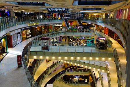 Kuala Lumpur, Malaysia - Nov 14, 2017. Shopping mall in Kuala Lumpur, Malaysia. Kuala Lumpur is the cultural, financial and economic centre of Malaysia.