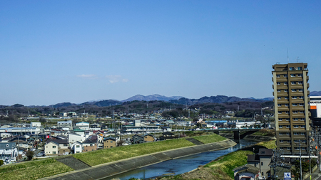 Fukushima, Japan - Apr 15, 2019. Cityscape of Fukushima, Japan. Fukushima is the place where the nuclear disaster occurred in 2011.