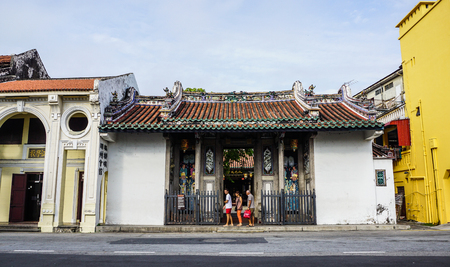 George Town, Malaysia - Aug 21, 2014. Chinese temple in George Town, Malaysia. George Town is one of the most popular tourist destinations in Malaysia.
