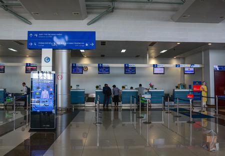 Dalat, Vietnam - Jan 25, 2016. Interior of Lien Khuong Airport in Dalat, Vietnam. Dalat is located in the South Central Highlands of Vietnam.