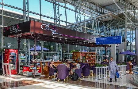 Dalat, Vietnam - Jan 25, 2016. Coffee shop or restaurant at Departure Hall of Lien Khuong Airport (DLI) in Dalat, Vietnam.