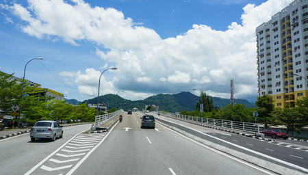 Penang, Malaysia - Aug 21, 2014. Highway in Penang, Malaysia. Penang is the top destination within Malaysia for foreign investors. Editorial