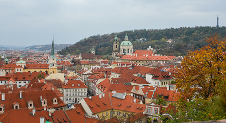 View of Old Praha (Prague), Czech. Prague is one of Europe most charming, colorful and beautiful cities.