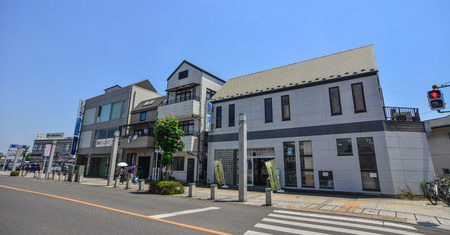 Utsunomiya, Japan - May 20, 2017. Street of Utsunomiya, Japan. Utsunomiya is the commercial and industrial center of Tochigi Prefecture.