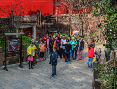 Chengdu, China - Nov 2, 2015. People visit old town in Chengdu, China. Chengdu is the capital of southwestern China Sichuan province. Redactioneel
