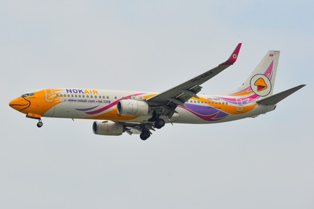 Saigon, Vietnam - Feb 2, 2019. HS-DBX Nok Air Boeing 737-800 landing at Tan Son Nhat Airport (SGN) in Saigon, Vietnam. Redactioneel