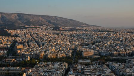 Beautiful sunset on the city of Athens, Greece. Athens is a tourist attraction that loves history and archeology. Reklamní fotografie