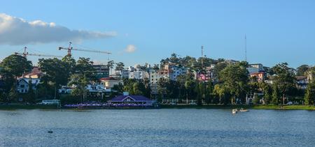 Dalat, Vietnam - Jan 25, 2016. Lake Xuan Huong at sunny day in Dalat, Vietnam. Dalat is located in the South Central Highlands of Vietnam.