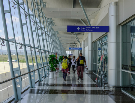 Dalat, Vietnam - Apr 20, 2018. Interior of Lien Khuong Airport in Dalat, Vietnam. Dalat is located in the South Central Highlands of Vietnam.