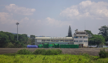 Dalat, Vietnam - Apr 20, 2018. Main building of Lien Khuong Airport (DLI) in Dalat, Vietnam. The airport is located in about 30 km south of Da Lat.