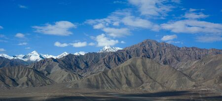 Mountain scenery of Ladakh, India. Ladakh has the culture and history are closely related to that of Tibet. Stock Photo