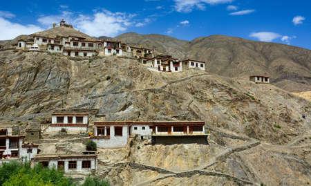Beautiful Tibetan village in Ladakh, Northern India. Ladakh is the highest plateau in India with much of it being over 3,000 m.