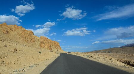 Mountain road of Ladakh, Northern India. Ladakh is the highest plateau in India