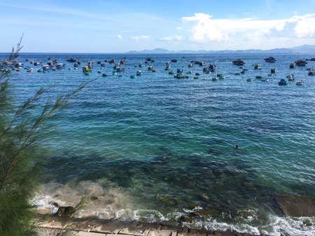 Seascape of Cu Lao Xanh Island, Quy Nhon, Vietnam.