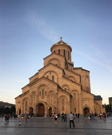 Tbilisi, Georgia - Sep 23, 2018. Holy Trinity Cathedral of Tbilisi, Georgia. Church is the third-tallest Eastern Orthodox cathedral in the world.