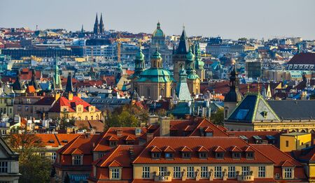 Cityscape of Old Praha (Prague), Czech. Prague is one of Europe most charming, colorful and beautiful cities.