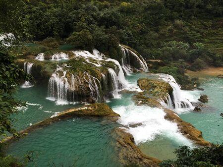 Vue de la cascade de Ban Gioc dans la province de Cao Bang, au nord du Vietnam.