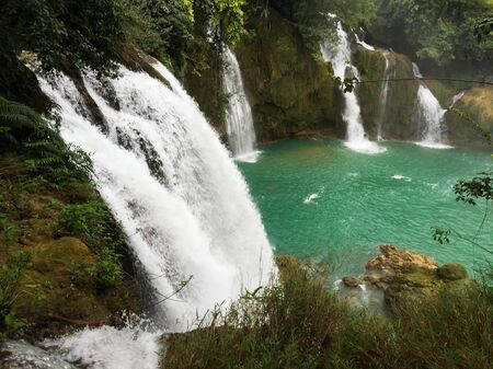 View of Ban Gioc Waterfall in Cao Bang Province, North of Vietnam.