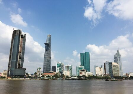 Saigon, Vietnam - Mar 7, 2015. Panorama view of Saigon, Vietnam. Saigon is the largest city in Vietnam and the former capital of the Republic of Vietnam.