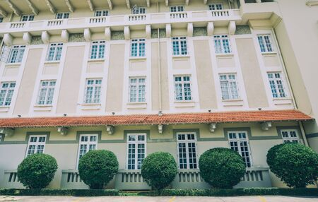 Architecture of French colonial building in Dalat, Vietnam. Standard-Bild