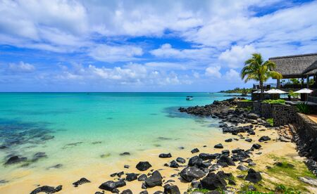 Beautiful seascape of Mauritius Island. Mauritius is one of the best destinations, known for its beaches, lagoons and reefs.