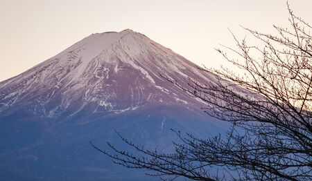 View of Mt. Fuji in sunny day. Mount Fuji has been a sacred site for practicers of Shinto since at least the 7th century. Stok Fotoğraf