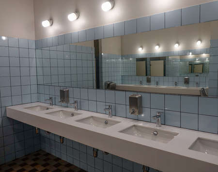 Tbilisi, Georgia - Sep 22, 2018. Bathroom of vintage hostel in Tbilisi Downtown. Tbilisi is Georgia ancient and vibrant capital city spreads out on both banks of the Mtkvari River. Editorial