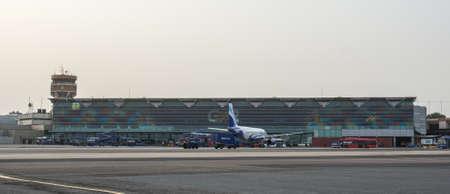New Delhi, India - Jul 15, 2015. View of Domestic Terminal of Indira Gandhi International Airport in New Delhi, India.