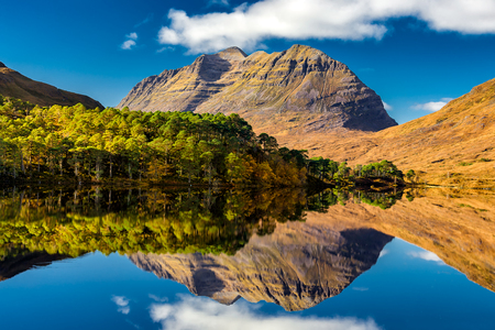 Liathach and Loch Clair, Glen Torridon, Scotland Stock Photo