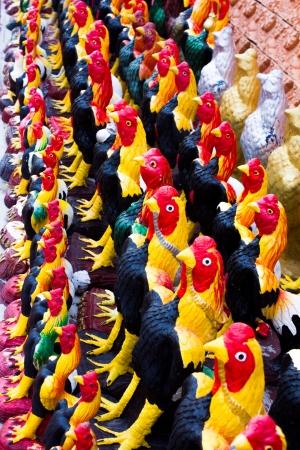 Chicken Statue off thailand photo