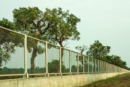 guard rail: Highway fence