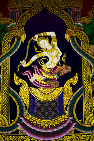 Author Temple murals Thailand Pathumthani province  photo