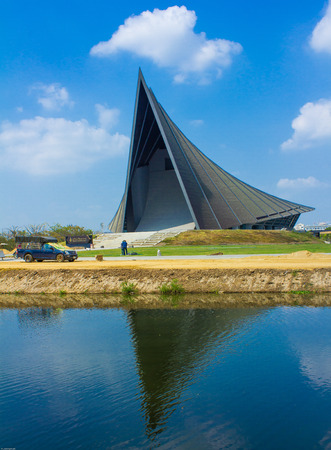 pitched roof: Roof structure University in thailand